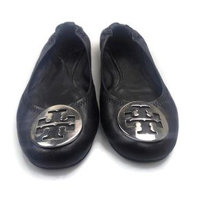 Tory Burch | Minnie Ballet Flats Black Size 9 EUC